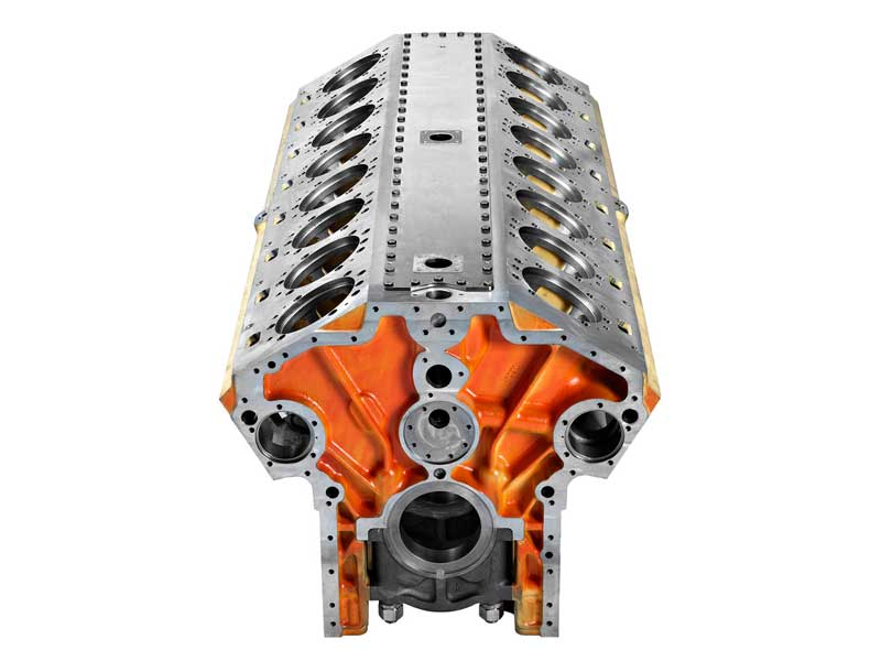 Engine block V16